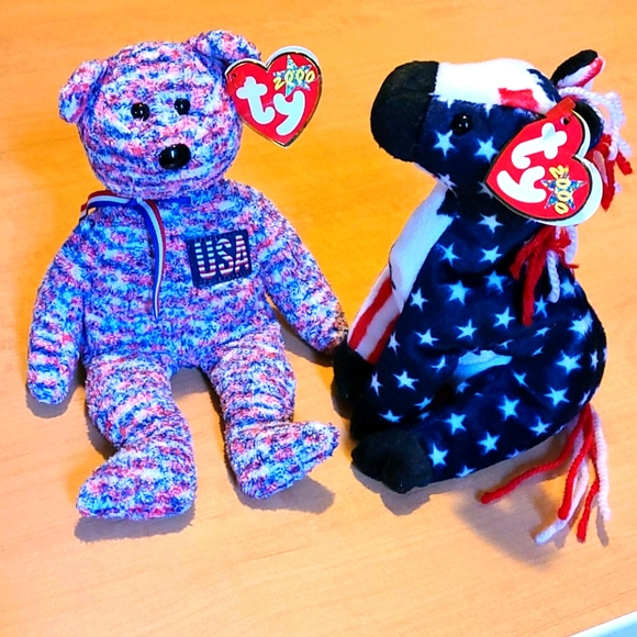 4th of July Beanie Babies (Lefty & USA)